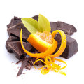 Chocolate, orange Stock Photo