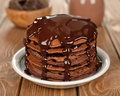 Chocolate pancakes Royalty Free Stock Photo