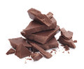 Chocolate parts Royalty Free Stock Photography