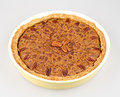 Chocolate pecan pie isolated on white Stock Image