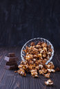 Chocolate pop corn Royalty Free Stock Photo