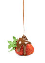 Chocolate is poured on strawberries isolated strawberry in a white background Stock Photos