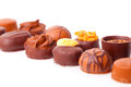 Chocolate Pralines Stock Photo