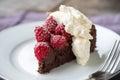Chocolate Raspberry Torte Royalty Free Stock Photo