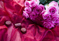 Chocolate & Roses Royalty Free Stock Photo
