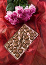 Chocolate & Roses Royalty Free Stock Photography