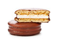 Chocolate Sandwitch Biscuits Royalty Free Stock Photo