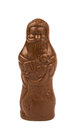 Chocolate Santa Claus isolated Stock Images