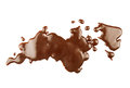 Chocolate sauce patches background isolated Stock Images