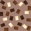 Chocolate seamless background with piece of black and white bars Royalty Free Stock Image