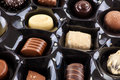 Chocolate selection a background of a of luxury chocolates Royalty Free Stock Images