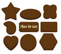 Chocolate shapes with space for text Royalty Free Stock Photography