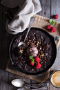 Chocolate skillet cookie Royalty Free Stock Photo