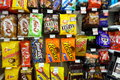 Chocolate snacks selection on september in toronto hershey and mars have become the largest manufacturers of in Royalty Free Stock Images