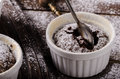 Chocolate souffle home Royalty Free Stock Photo