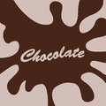 Chocolate splash background Royalty Free Stock Photo