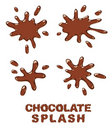 Chocolate splash set. Royalty Free Stock Photography