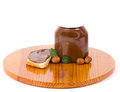Chocolate spread container Stock Photos