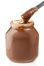 Chocolate spread fresh and delicious Royalty Free Stock Photo