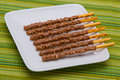 Chocolate sticks Stock Photos