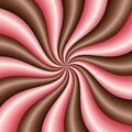 Chocolate and strawberry. Cream swirl. Twist texture for package design of ice cream,yogurt,milk or other desserts Royalty Free Stock Photo