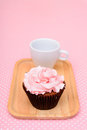 Chocolate Strawberry cup cake Royalty Free Stock Photo