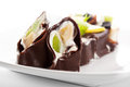 Chocolate Sushi Roll Stock Images