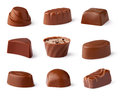 Chocolate sweets collection Royalty Free Stock Photo