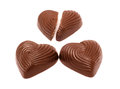 Chocolate sweets in form heart Stock Photos