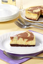 Chocolate swirl cheesecake Royalty Free Stock Photo