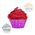 Chocolate swirl cupcake set