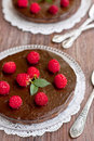 Chocolate tart Stock Images
