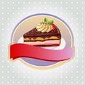 Chocolate tart label