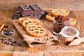 Chocolate tart. Royalty Free Stock Photo