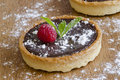 Chocolate tarts Royalty Free Stock Photography