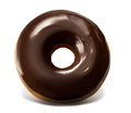 Chocolate Top Doughnut Royalty Free Stock Photo