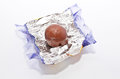 Chocolate on top of a wrapper Royalty Free Stock Photography