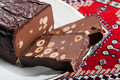 Chocolate Torrone Candy Block Royalty Free Stock Image