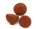 Chocolate truffle candies isolated on white background Royalty Free Stock Photography