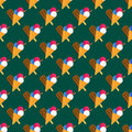 Chocolate vanilla ice cream cone seamless pattern vector. Royalty Free Stock Photo