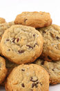 Chocolate walnut cookies Royalty Free Stock Images
