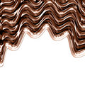 Chocolate waves Royalty Free Stock Photo