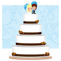 Chocolate Wedding Cake Royalty Free Stock Photography