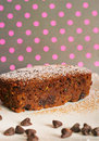Chocolate zucchini bread polka dots Royalty Free Stock Photos