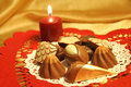 Chocolates By Candlelight Stock Photo