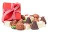 Chocolates confection gift on white background Stock Photo