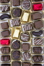 Chocolates picture of tasty milk Royalty Free Stock Image