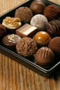 Chocolates on a serving dish Royalty Free Stock Images