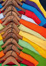 Choice of colorful casual clothes Royalty Free Stock Photo