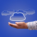 Choice concept of cloud computing Stock Images